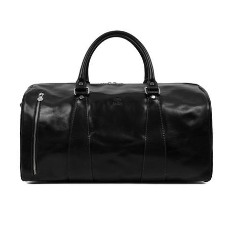 Wise Children // Leather Duffel Bag // Black