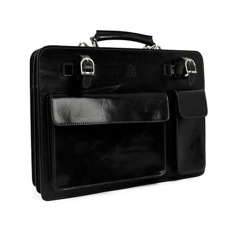 The Prophet // Leather Work Bag // Black
