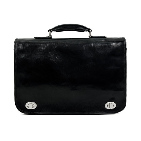 Illusions // Leather Briefcase // Black