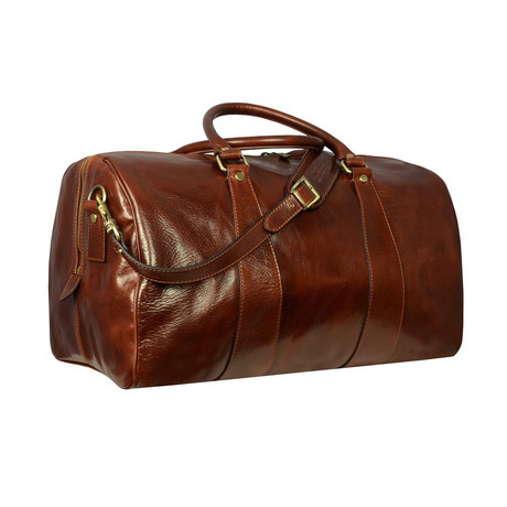 Wise Children // Leather Duffel Bag // Brown