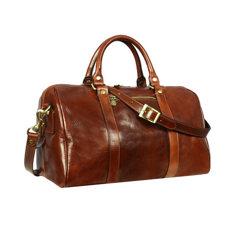 The Ambassadors // Leather Overnight Bag // Brown