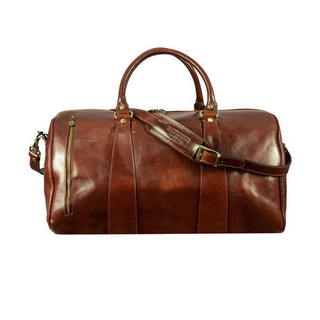 Wise Children // Leather Duffel Weekend Bag // Brown