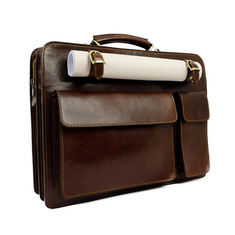 The Prophet // Leather Work Bag // Brown