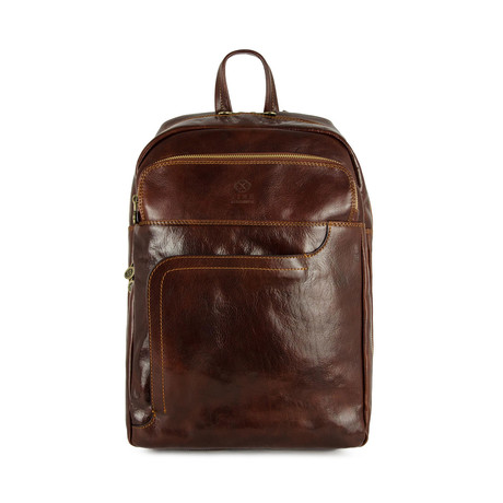 L.A. Confidential // Leather Backpack // Dark Brown
