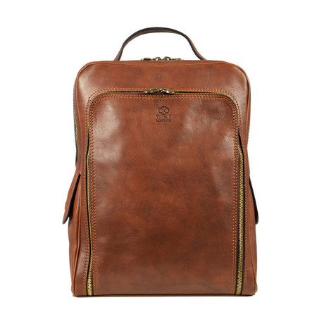 The Sun Also Rises // Leather Backpack // Light Brown