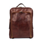 The Sun Also Rises // Leather Backpack // Dark Brown