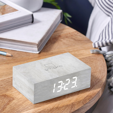 Flip Click Clock (White Maple)