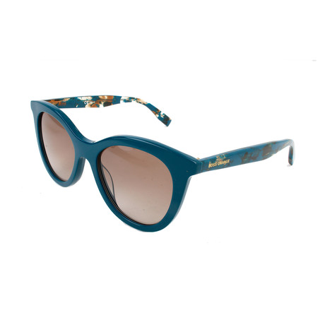 Boss Orange // Women's 0310S Sunglasses // Blue + Matte Dark Brown