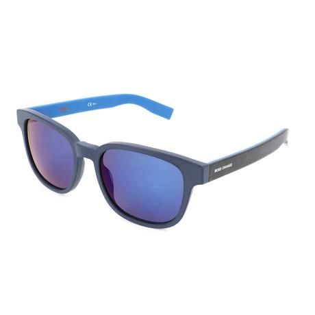 Boss Orange // Men's 0193S Sunglasses // Blue + Havana Blue