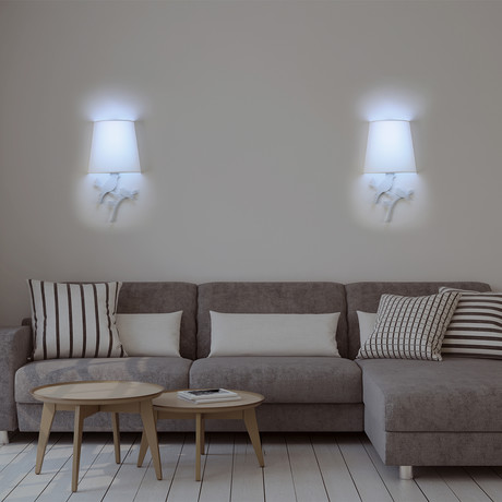 Smart Sconce Light 2-Pack // Silhouette Bird Style (Olive)