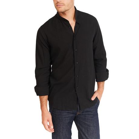 Thomas Long Sleeve Button-Up Shirt // Coal Black (Large)