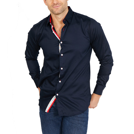 Jeremiah Long Sleeve Button-Up Shirt // Royal Blue (Large)