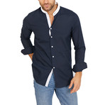 Jack Long Sleeve Button-Up Shirt // Dark Blue (Large)
