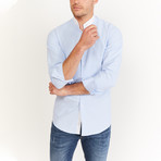 Bicle Long Sleeve Button-Up Shirt // Light Blue (Large)