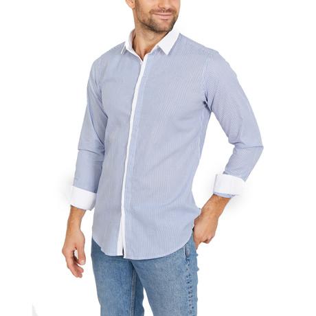 Brayden Long Sleeve Button-Up Shirt // Blue (Small)