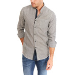 Williams Pinstripe Long Sleeve Button-Up Shirt // Gray (Large)