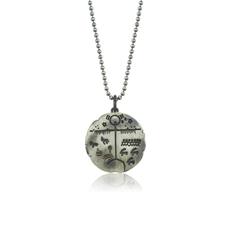"Saami Person Charm Serenity Necklace // Oxide (22"")"