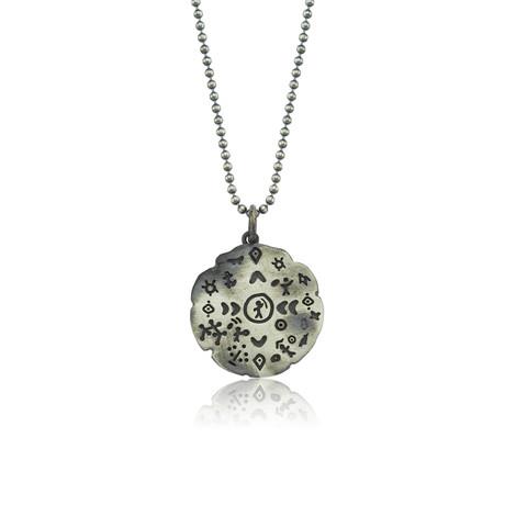 "Saami Symbols Charm Serenity Necklace // Oxide (22"")"