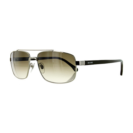 Men's Pilot Sunglasses // Gold + Brown Gradient