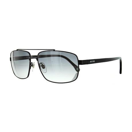 Men's Pilot Matte Sunglasses // Black + Gray Gradient