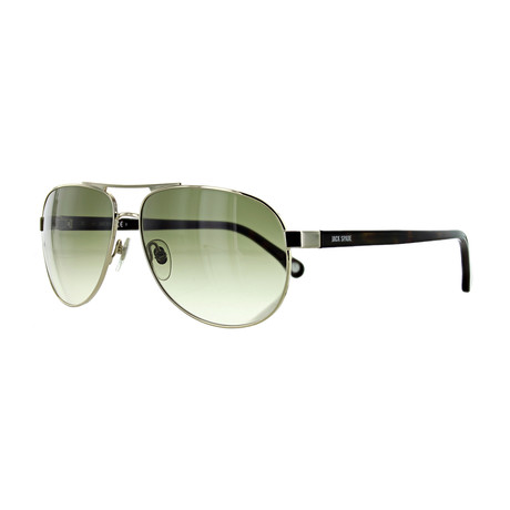 Men's Aviator Sunglasses // Gold + Olive Gradient