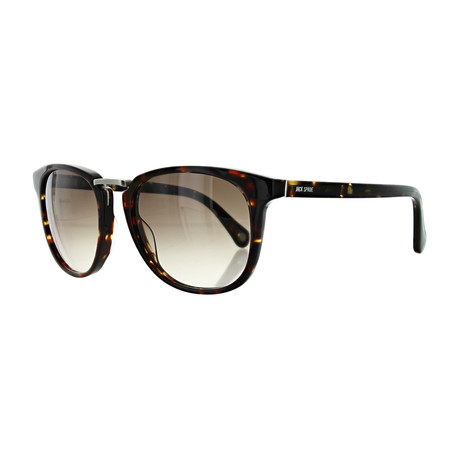 Men's Square Sunglasses // Havana + Brown Gradient