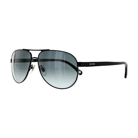 Men's Aviator Sunglasses // Black + Gray Gradient