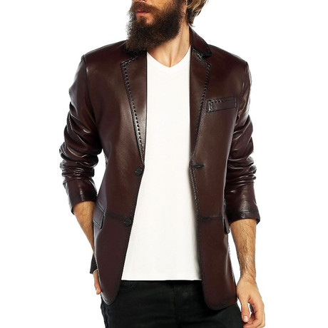 Canary Leather Jacket // Brown (XS)