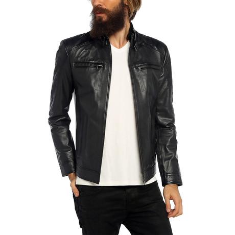 Macaw Leather Jacket // Gray (XS)