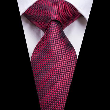 Brewer Handmade Silk Tie // Red