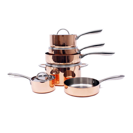 Copper // Tri-Ply Cookware 10-Piece Set // Polished