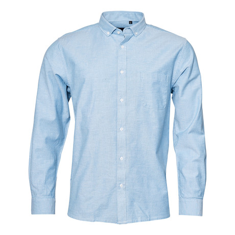 Oxford Shirt + Stretch // Light Blue (2XL)