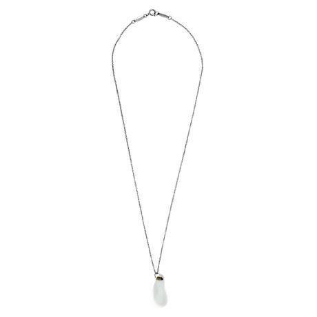 Tiffany & Co. Platinum Crystal Quartz Drop Necklace // Pre-Owned