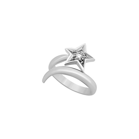 Chanel 18k White Gold Comete Diamond Star Ring // Ring Size: 6 // Pre-Owned