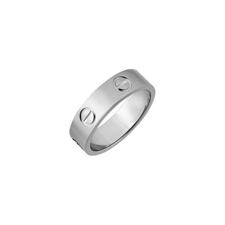 Cartier 18k White Gold Love Ring // Ring Size: 6 // Pre-Owned