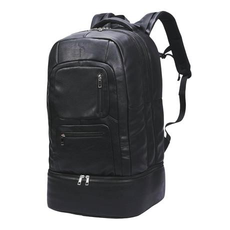 Luxury Travel Bag // Tumbled Leather // Black