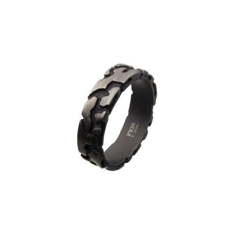 Stainless Steel Terra Ring // Black (Size 9)