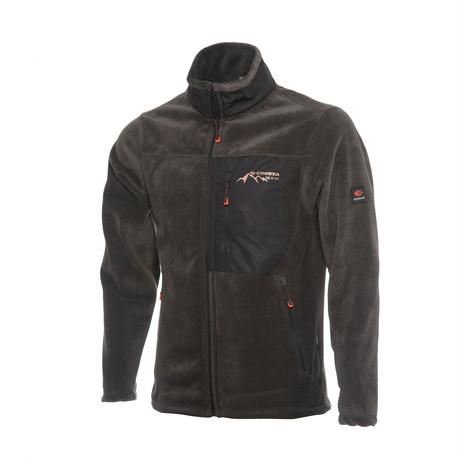 Full Zip Pieced Fleece Jacket // Anthracite (S)