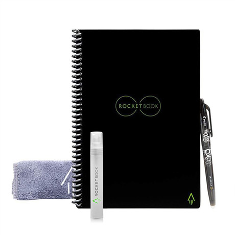 Rocketbook Core  // Dot-Grid Notebook // Water Spray Bottle (Executive Size)