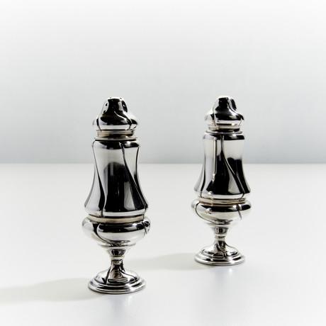 Binc Silver Salt + Pepper Shaker Set