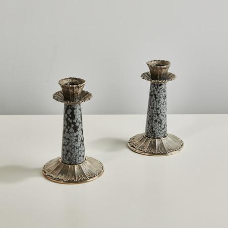 Rouche + Snowflake Obsideon Candlestick Set