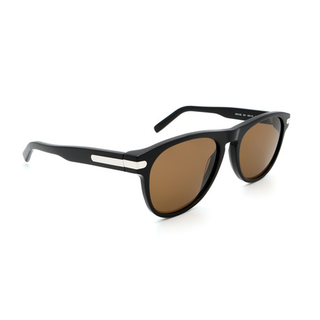 Men's SF916S-001 Logo Sunglasses // Shiny Black + Silver