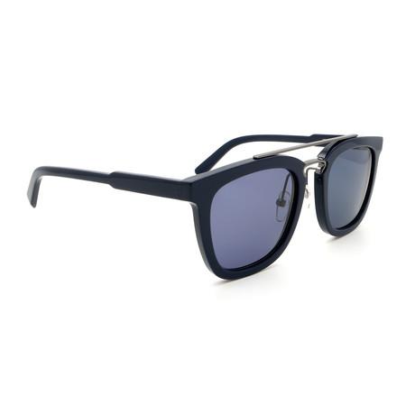 Men's SF844S-414 Square Sunglasses // Black + Gray + Blue