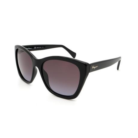 Women's SF957S-001 Sunglasses // Shiny Black + Gray Gradient