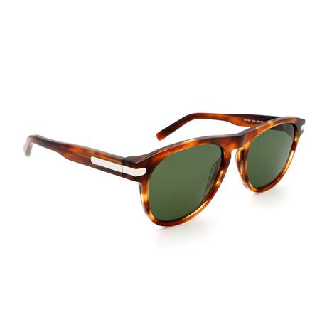 Men's SF916S-214 Logo Sunglasses // Shiny Tortoise + Silver
