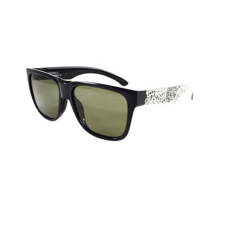 Smith // Men's Lowdown Sunglasses // Black + White + Brown