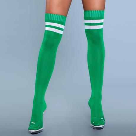 Stripe Knee High Stocking // Green // Set of 2