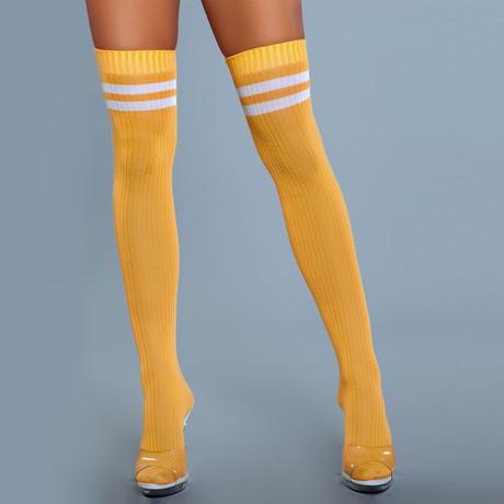 Stripe Knee High Stocking // Yellow // Set of 2