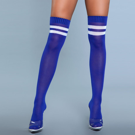 Stripe Knee High Stocking // Blue // Set of 2