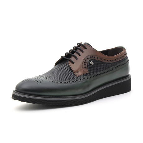 Paris Classic Shoe // Green + Tobacco (Euro: 37)